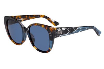 Christian Dior Ladydiorstuds4f JBW/KU BLUE HAVANA 55 Donna