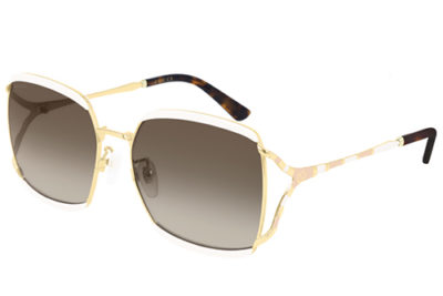 Gucci GG0593SK 003 ivory gold brown 59 Donna